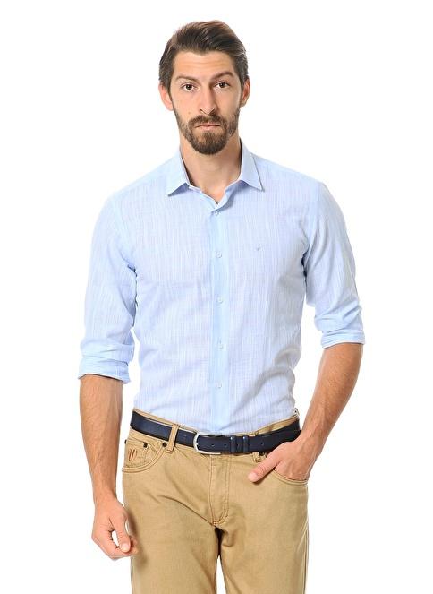 Wessi Slim Fit Uzun Kollu Gömlek Mavi